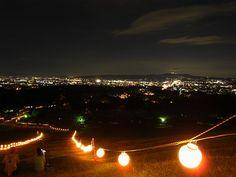 若草山「燈花会」 新日本三大夜景之一:奈良若草山夜景!山高342米,1h不到就能到达山顶