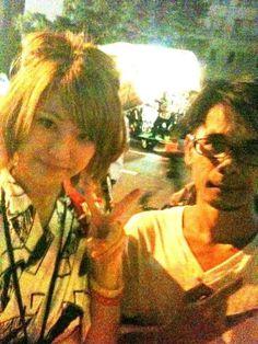 With ayumi on 1st day nebuta