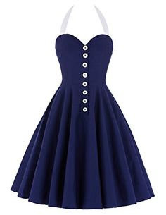 Women's Halter 50s 60s Polka Dot Swing Vintage Dress CL60... https://www.amazon.com/dp/B01IEWLR0M/ref=cm_sw_r_pi_dp_x_aKCjyb80Z9MWV