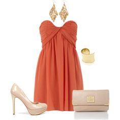 Nude shoes and purse & gold jewelry to wear with the beautiful dress i bought!