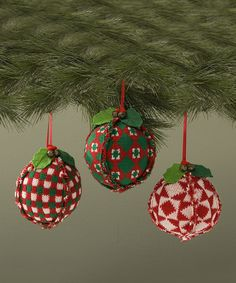 Do ----  Take a look at this Exposed Seam Ball Ornament Set on zulily today!
