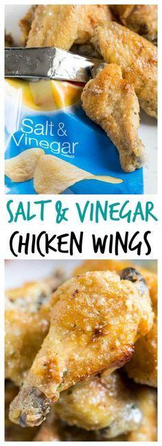 Baked Salt & Vinegar {chip inspired} Chicken Wings via @nospoonn