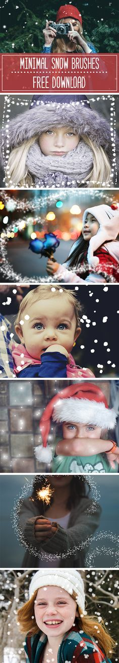 FREE download! These minimal and beautiful snow brushes will transform any photo into a holiday masterpiece!   Created by Alexandria Hough   www.alexandriahou...   #holiday #christmas #photoshop #graphicdesign #DIY #holidayDIY #holidayphotos #holidayphotography #holidayportrait