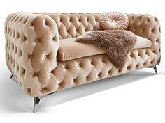 Skandinavische Möbel - Skandinavische Möbel günstig online bestellen - Chesterfield Sofa, Sofa Couch, Settee, Creme, Designer, Accent Chairs, Cozy, Living Room, Interior Design