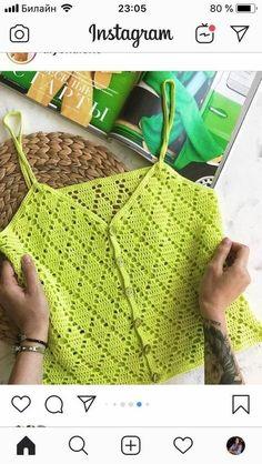 Crochet Tank Tops, Crochet T Shirts, Crochet Summer Tops, Summer Knitting, Crochet Cardigan, Baby Blanket Crochet, Crochet Clothes, Baby Knitting, Crochet Baby
