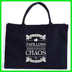 Papillon Dog Lover Owner Gifts Without Chaos And Darkness - Tote Bag - Totes (*Amazon Partner-Link)