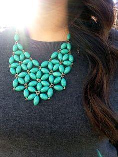 floral statement necklace. sassy, southern & stylin'