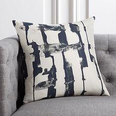 "18"" Xray Black and White Pillow   CB2"