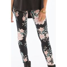 Alternate Product View 1 for MINA FLORAL LEGGING PANT Off Black