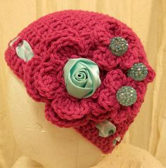 Bright and Happy hand made crochet hats and bands by wecreationz, $15.00