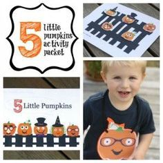 "3 fun-filled follow ups to the popular Halloween rhyme, ""5 Little Pumpkins"". {Playdough to Plato}"