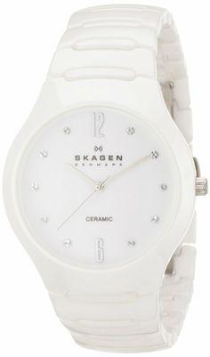 Skagen Women's SK817SSXC Ceramic White Dial Watch: Watches: Amazon.com