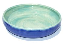 Beyond Blue Ceramics - Pasta Serving Bowl Hand made in Los Angeles by studio potter Betiina Kleeman