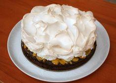 Čokoládová torta so snehom a broskyňami, recept | Naničmama.sk