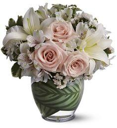 arranjo floral romântico