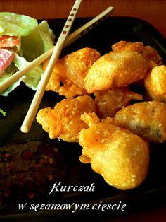 Fantazje kulinarne Magdy K.: Kurczak w sezamowym cieście Polish Recipes, Polish Food, Favorite Recipes, Chicken, Meat, Baking, Dinner, Ethnic Recipes, Dining
