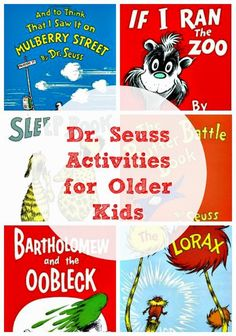 Dr Seuss' Books and Activities for Older Kids