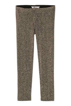 Glitterende legging - Goudkleurig/glitters - | H&M NL