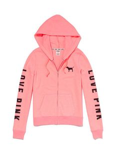 0cea33069d6 Perfect Zip Hoodie - PINK - Victoria s Secret Moletons