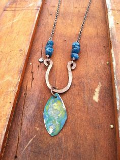 Rustic   like w/ stone pendant/could use my enameled leaf .