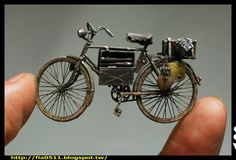 German WW2 wehrmacht bicycle 1/35 scale. By Lee Bo Da. #scale_model http://fia0511.blogspot.jp/2014/10/afv-club_21.html