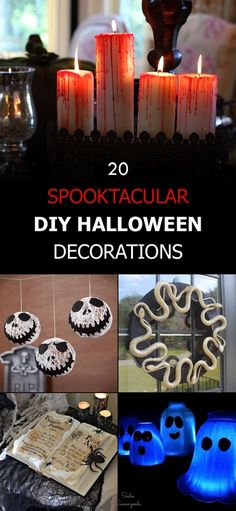 A list of 20 DIY Halloween decorations that are easy-to-make, inexpensive, and look great.