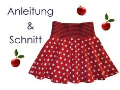 Pattern + instructions circle skirt for girls size - Lunicum - Sewing pattern and sewing instructions for a children& plate skirt. The model is very easy to - Sewing For Kids, Baby Sewing, Knitting Patterns, Sewing Patterns, Diy Mode, Cute Skirts, Kids And Parenting, Sewing Projects, Kids Fashion