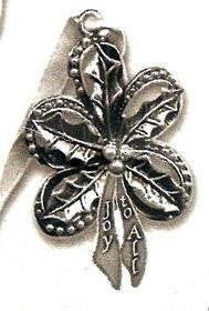 Holly Pewter Ornament