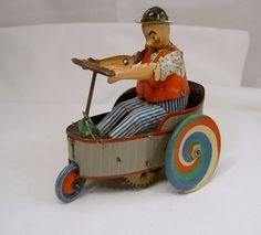 #toys #vintagetoys Peter Lehmann wind up tin toys. Made in Germany
