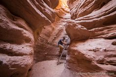 If you are looking for a unique hike with ladders, slot canyons, and unique rocks then look no further then Ladder Canyon outside of Mecca. Palm Springs California, California Love, California Travel, California Destinations, Family Destinations, Slot Canyon, Canyon Road, Places To Travel
