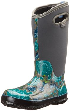 Bogs Women's Classic Winter Blooms Tall Snow Boot *** Awesome product. Click the image : Boots