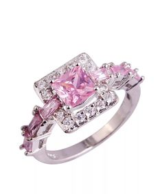 F/&F jewel Simulated Pearl Bow Rose Color Crystal Jewelry Finger Ring for Women Wedding Engagement Rings