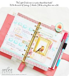 Webster's Pages Using Your Planner: Tips from our Designers   Light Pink Planner Anabelle O'Malley