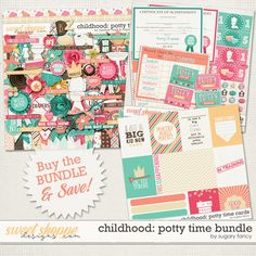 Childhood: Potty Time Bundle by Heather Roselli & Sugary Fancy