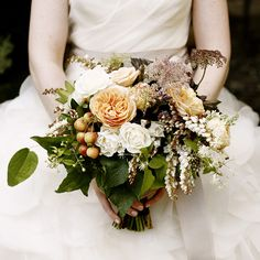 fruit and flower wedding bouquet