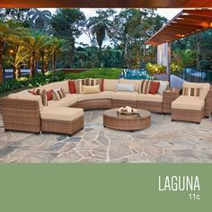 TKC Laguna 11 Piece Outdoor Wicker Patio Furniture Set *** See this great product. (This is an affiliate link) #OutdoorFurniture