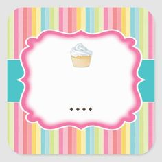 Shop Cute Cupcake Stickers created by colourfuldesigns. Cupcake Packaging, Packaging Stickers, Logo Doce, Bakery Business Cards, Flamingo Wallpaper, Food Logo Design, Bakery Logo, Cute Cupcakes, Vintage Tags