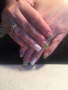 Lime green zebra bling