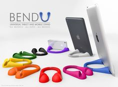BendU is your definitive tablet and mobile Stand. CHECK OUT THE VIDEO: (Copy and paste the link below) http://youtu.be/BagldsK__h8 BendU is very safe and stable, and can be used with almost *all models, *all sizes, and *all brand devices, in a portrait or landscape position. BendU is flexible, so you can adjust it to the width of your device, and have **two levels of fit, to provide two angles of inclination to your tablet, in a landscape position. BendU is elegant, light, small and flexi...