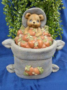 Aardbeienbeer pot (binnenkant geglazuurd)