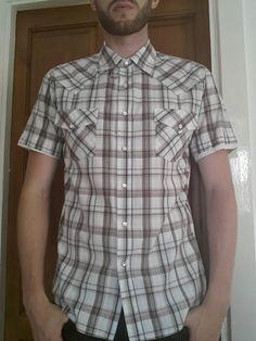 Men's medium sized Check short sleeve shirt   eBay