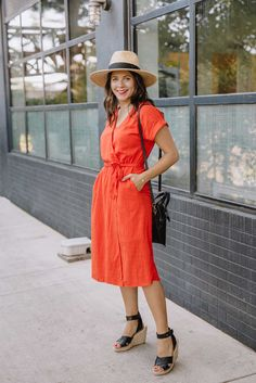 b765097ff9 9 Best orange dress outfits images
