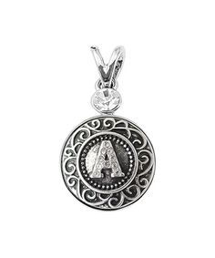 Silvertone 'A-M' Interchangeable Snap-On Alphabet Pendant  ...  Bright Eyes Boutique  . $8.99 $15.00  ... A B C D E F G H I J K L M * : Product Description:  This alphabet charm and pendant set's interchangeable design brings a dash of personalization to everyday ensembles.      Includes pendant and charm  .     30 mm  .     Zinc alloy  .     Imported