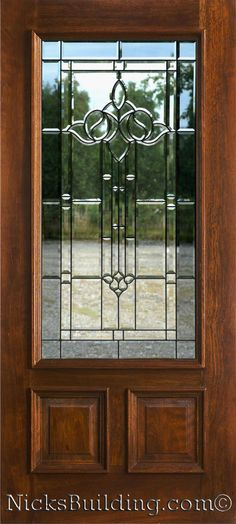 Therma tru classic craft mahogany collection fiberglass for Wooden back doors with glass