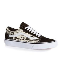 Vans Shoes - Vans Old Skool Shoes - (newsprint) Black white Vans Sneakers 91b9dca03