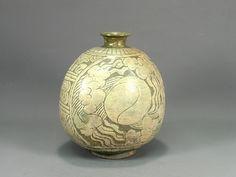 보물 제1456호 분청사기박지태극문편병(粉靑沙器剝地太極文扁甁)