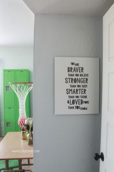 Lots of wood tones, grays and neutrals for a vintage industrial boys room. Cute decor ideas and tips to keep it neat. Fun accessories like a basketball hoop and green (Basketball Bedroom) Kids Bedroom Boys, Boys Room Decor, Bedroom Decor, Bedroom Ideas, Kids Rooms, Boy Rooms, Lego Bedroom, Childs Bedroom, Kid Bedrooms