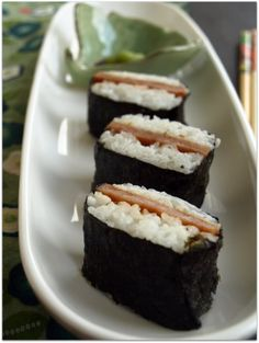 Spam Musubi.....made this came out great but ofcourse I made a few revisions to it.