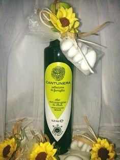 Olio extravergine di oliva DOP Val di Mazara. Una bomboniera per tutte le occasioni. Diversi formati e possibilità di etichetta personalizzata.  Per info info@cantunera.sicilia.it -  tel 3346186351