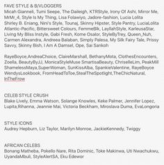 Fave style and b/vloggers | www.fromheadtoheels.blogspot.com